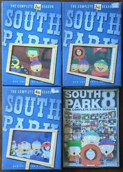 South Park Complete Season 2, 3, And 4 Collector's Edition + Season 8 Dvd Lot