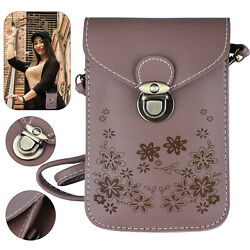 Women Mini Leather Crossbody Purse Cell Phone Bag Pouch Shoulder Handbag Wallet $9.98