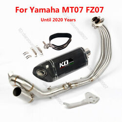 For Yamaha Mt07 Fz07 Full Exhaust System Motorcycle Link Pipe Carbon Muffler Tip