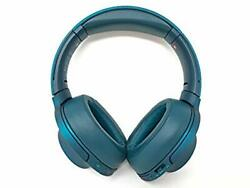 Sony H.ear On Wireless Noise Cancelling Headphone Viridian Blue Mdr100abn/l Used