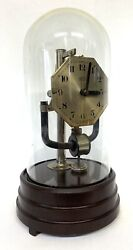 Lovely Bulle Electric Clock Under Glass Dome For Repair