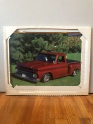 Vtg Chevy 1964 C10 Picture Frame Wall Decor Brad Wagner 1985 20in X 16in
