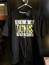 Nike Slam Dunk Pick And Rolls Basketball Graphic Print T-shirt Size 2xl Nos