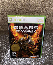 Gears Of War Brand New Factory Sealed Rare Microsoft Xbox 360 White Label Print