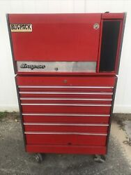 Vintage Collectible Snap-on Roller Tool Box Chest Kr-537d Upper Kr-557e Lower