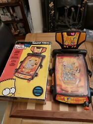 Boxed The Simpsons Tabletop Pinball Electronic Game 2005 Lights And Sounds + Instr