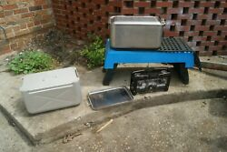 Military Cooking Stove Coleman/us Smp1990 With Cointainers Look Video