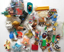 Sixty Item Vintage Mixed Toy Lot Mcdonalds, Cereal Premiums, Character Pins