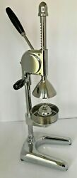 Commercial Citrus Juicer Hand Press Crank Manual Stainless Steel And Chrome 24