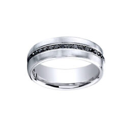 0.40 Cttw Natural Diamond Band Ring 18k White Gold Comfort-fit 7.5mm Sz 13