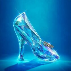 Diy Full Drill Diamond Painting Cross Stitch Blue Crystal Shoes Embroidery Art