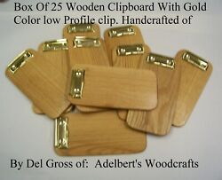25 Small Wooden Clipboard Check Presenter Great For Out Door Dining Red Oak Usa.