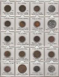 Early 1900s Western Trade Token Collection With Additional Exonumia