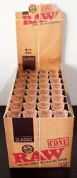 Raw Classic Pre-rolled Cones 1 1/4 Rolling Papers Box 32 Packs 192 Conessealed