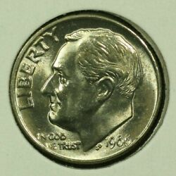 1966-p 10c Roosevelt Dime Bu Clad 20or1020 70 Cents Shipping