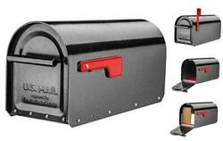 5560p-r-10 Sequoia Heavy Duty Post Mount Mailbox Pewter