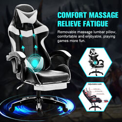 Racing Gaming Chair Adult Office Recliner Computer Desk Chair Pu Leather Swivel