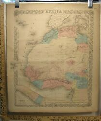 Antique 1859 Hand Colored Colton's General Atlas Engraving Map North West Africa