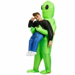Green Alien Costume Inflatable Cosplay Funny Suit Party Fancy For Adult Kids