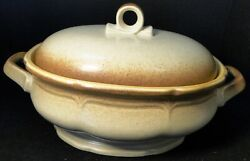 Mikasa Whole Wheat 2 Quart Oval Covered Casserole With Lid E8000 Excellent