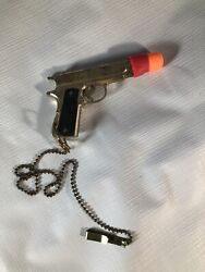 Vintage Metal Usa Cap Gun With Tie Clip Small Vest Pocket Carry Weapon Toy Htf