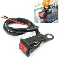 Black Motorcycle Button Headlamp Handlebar Switch Waterproof Replacement Parts