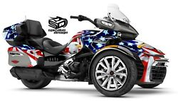 Can Am Spyder F3-ltd Decal Graphic Wrap Kit - Patriot Usa