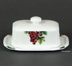 Royal Doulton Vintage Grape Butter Dish And Lid, Superb+ Condition England Tc1193