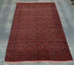 7and0396 X 11and0396 Feet Antique Handmade Afghan Tribal Knotted 100 Wool Pattern Marchaq