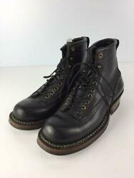 White's Boots Smoke Er 375v-ltt Us7.5 Tag Size 7.5 Black Boots From Japan