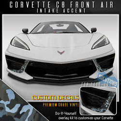For 2020-2021 Corvette Front Air Intake Overlay Graphic Decal Shadow Camo Vinyl