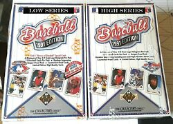 1991 U D Mlb Lo And Hi 2 Hero Boxes Ryan And Aaron Autoand039s 3 Hof Autoand039s C-details C