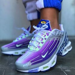 Nike Air Max Plus 3 Gs Purple Nebula Blue Grey Cd6871-006 Size Womenand039s 6 Us 4.5y