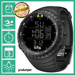 Best Digital Sports Watch Waterproof Tactical Watch With Led Backlight For Men