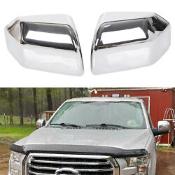 For 2015-2020 Ford F150 Top Half Chrome Mirror Caps Covers Direct Replacement