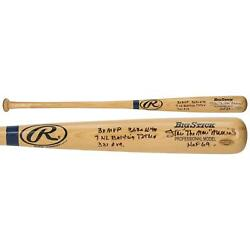 Stan Musial St. Louis Cardinals Signed Rawlings Baseball Bat With Multiple Inscs