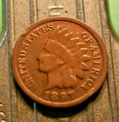 1897 Indian Head Penny 1c. 6939