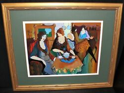 Tarkay Casey For Tea Color Serigraph European Artistand039s Proof 27/50 Signed