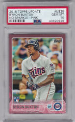2015 Topps Update Byron Buxton /50 Mother's Day Pink Rc Psa 10 Minnesota Twins