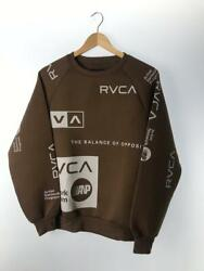 Rvca S Polyester Brown Polyester Size S Fashion Sweat 2055 From Japan