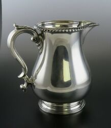 Antique 1942 Gorham Heavy Solid Sterling Silver Water Pitcher 4 1/2 Pints