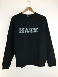 Rvca -love Or Hate M Ba042-003 Black Cotton Size M Fashion Sweat From Japan