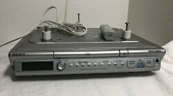 Sony Icf-cd543rm Under Cabinet Cd Player Clock Am Fm Radio W/ Remote And Hardware