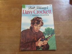 Four Color 631 Davy Crockett Indian Fighter 1 High Grade 1950and039s Disney Tv