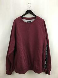 Rvca 2tone Jacquard M Red Model Number Ba042-003 Red Cotton Size M Sweat