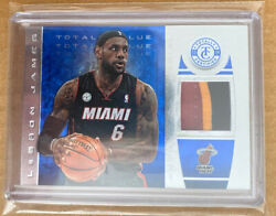 2013-14 Lebron James Totally Certified Total Blue /25 Miami Heat Logo Tri Color