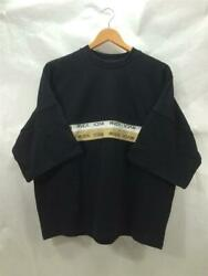 Rvca 2tone Jq Tape Short-sleeved M Black Cotton Size M Sweat From Japan