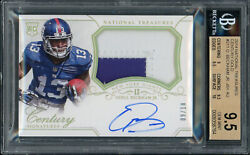 2014 National Treasures Century Gold Rpa Rc Auto /10 Odell Beckham Jr Bgs 9.5