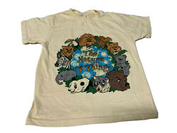 Vintage Kids Youth Size Small 6 8 T Shirt The Nature Of Things Animals Zoo Hanes