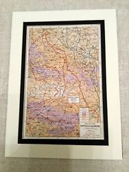 Ww1 Map Print Western Front Allied German Military Battle Of The Ancre